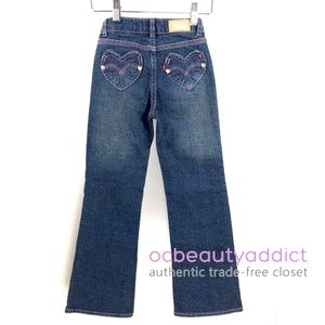 Levi's Girls Boot Cut Heart Denim Jeans - 6 Slim